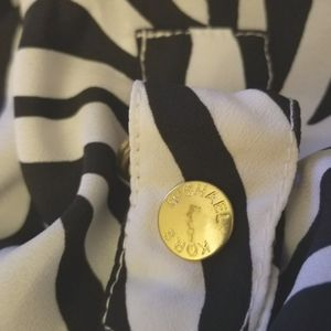 Michael Kors Tops - Michael Kors zebra print blouse size S nwt